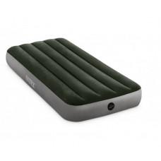 Матрас надувной односпальный INTEX 64106 Prestige Downy Airbed With Fiber-Tech, 76 х 191 х 25 см.
