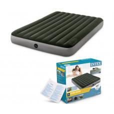 Матрас надувной односпальный INTEX 64761 Downy Airbed With Fiber-Tech, 99х191х25 см.