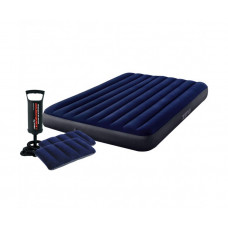 Матрас надувной двуспальный INTEX 64765 Classic Downy Airbed With Fiber-Tech, 152 х 203 х 25 см.