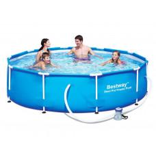 Бассейн каркасный, сборный BestWay 56408 /56679 Steel Pro Max Frame Pool, круглый 305 х 76 см.