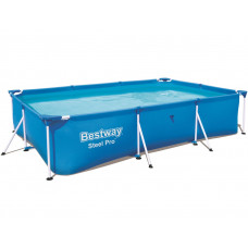Бассейн каркасный, сборный BestWay 56411 Steel Pro Frame Pool, прямоугольный 300 х 201 х 66 см.