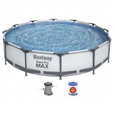 Бассейн каркасный, сборный BestWay 56416 Steel Pro Max Frame Pool, круглый 366 х 76 см.