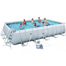 Каркасный бассейн Bestway 56471 671х366х132 см, полный комплект с песчаным фильтром