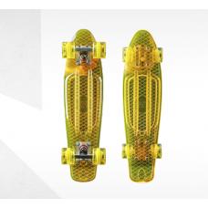 Скейтборд пластиковый Transparent 22 TTSL-401F-O, оранжевый