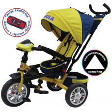 """3-х кол. велосипед TRIKE Formula-5, FA5Y, (12""""/10"""",надувные) желтый"""