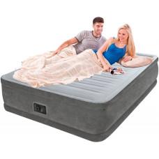 Кровать надувная двухспальная со встроенным насосом 220В intex 64414, 152х203х46см