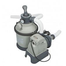 Песочный фильтр-насос intex 26648, 8000 л/ч