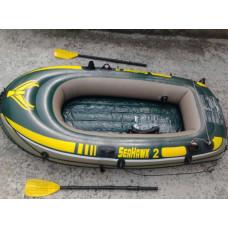 Лодка надувная seahawk 2 intex 68347, 236х114x41см