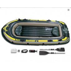 Лодка надувная seahawk 4 intex 68351, 351х145x48см