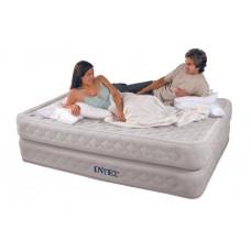 Надувная кровать Intex 64464 Supreme Air-Flow Bed 152х203х51см, встроенный насос 220V