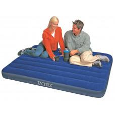 Матрас надувной полутораспальный (без насоса) intex 68758, 137х191х22см