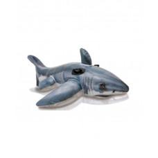 Плотик надувной акула intex 57525, 173х107см
