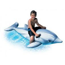 Плотик надувной дельфин intex 58539, 201х76см