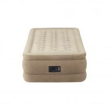 Кровать надувная односпальная со встроенным насосом 220В intex 64456, 99х191х46см