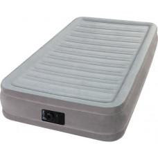 Кровать надувная односпальная со встроенным насосом 220В intex 67766, 99х191х33см