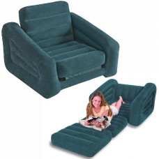 Кресло-кровать надувная intex 68565, 109х218х66см